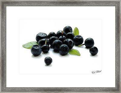 Blueberries Framed Print by Cole Black