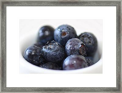 Blueberries Framed Print