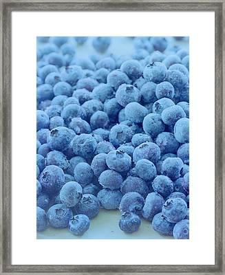 Blueberries Framed Print by Romulo Yanes