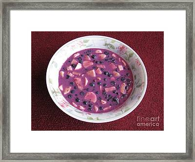 Blueberry And Banana Soup Framed Print