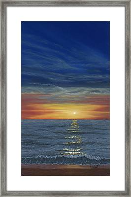 Blueberry Beach Sunset Framed Print