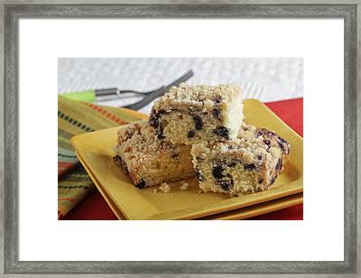 Blueberry Coffeecake Framed Print by Sarah Christian