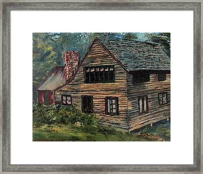 Blueberry Cottage At Twin Lake Village Framed Print