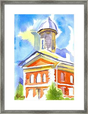 Blueberry Courthouse Framed Print by Kip DeVore