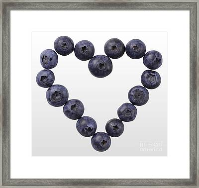 Blueberry Heart Framed Print by Gwen Shockey