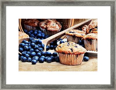 Blueberry Muffins Framed Print by Stephanie Frey