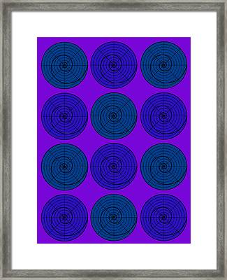 Blueberry Orb Circle Bubble Pop A La After Warhol  Framed Print