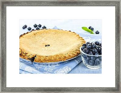 Blueberry Pie Framed Print