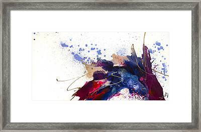 Blueberry Splash Framed Print by Jonas Gerard