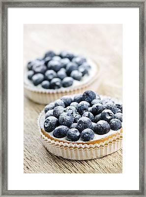 Blueberry Tarts Framed Print by Elena Elisseeva