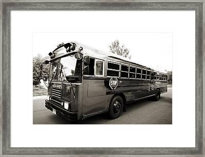 Bluebird Bus Limo 2 Framed Print