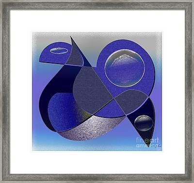 Framed Print featuring the digital art Bluebird by Iris Gelbart