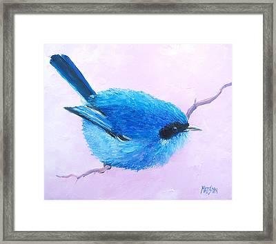 Bluebird Framed Print by Jan Matson