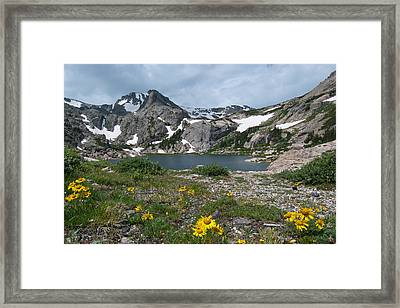 Framed Print featuring the photograph Bluebird Lake - Colorado by Cascade Colors