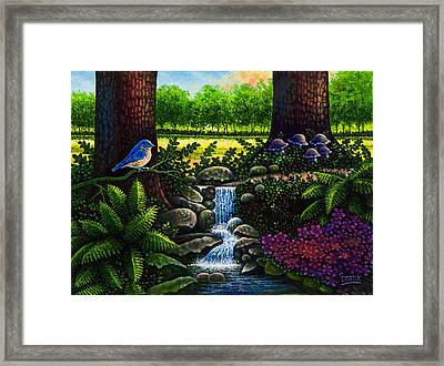 Framed Print featuring the painting Bluebird by Michael Frank