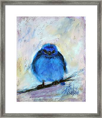 Bluebird Of Unhappiness Framed Print
