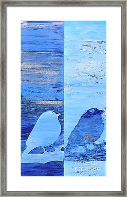 Bluebirds Framed Print