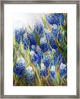 Bluebonnet Barrage  Framed Print