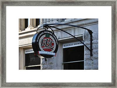 Framed Print featuring the photograph Bluegrass Brewing Company by Greg Jackson
