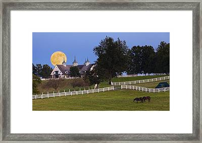 Bluegrass Moonrise Framed Print