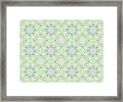 Bluegreen Tiling Wpiia69  Framed Print