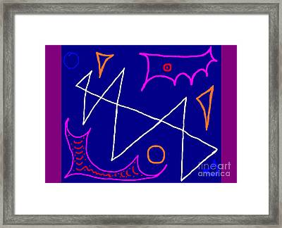 Bluelight Framed Print by Meenal C