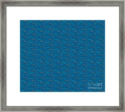 Bluen Ying Yang Fish Douvet Pillow Design Framed Print