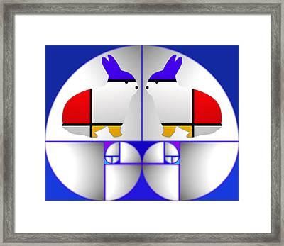 Blueprint Framed Print