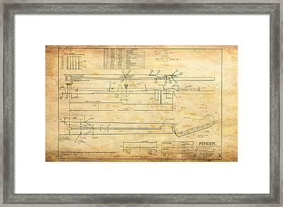 Blueprint For Rock And Roll Framed Print