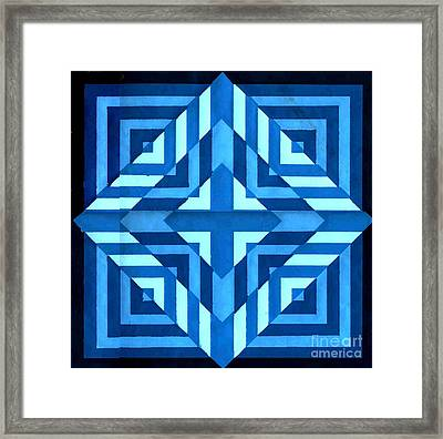 Bluer Than Blue Framed Print by Dave Atkins