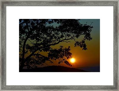 Blueridge Sunset Framed Print
