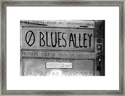 Blues Alley Framed Print