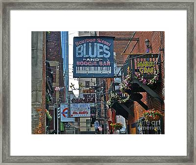 Blues Baby Framed Print