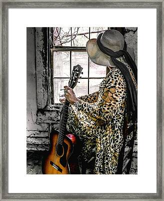 Blues Broad Color Framed Print by EG Kight