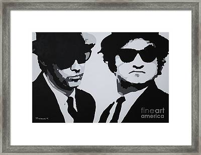 Blues Brothers Framed Print by Katharina Filus