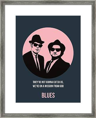 Blues Brothers Poster 1 Framed Print by Naxart Studio