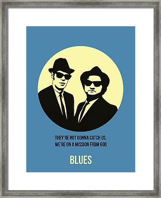 Blues Brothers Poster 3 Framed Print by Naxart Studio