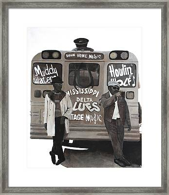 Blues Bus Framed Print