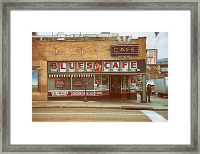 Blues City Cafe On Beale Street Memphis Framed Print by Mary Lee Dereske