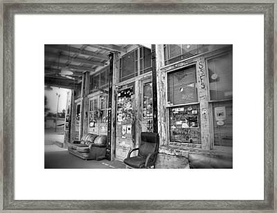 Blues Club In Black And White Framed Print