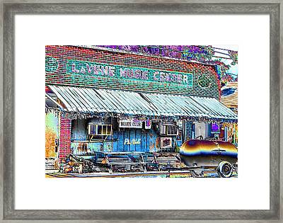 Blues Club In Clarksdale Framed Print