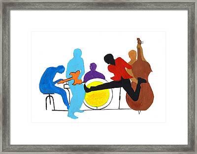 Blues Concept 2 Framed Print