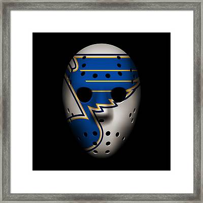 Blues Goalie Mask Framed Print