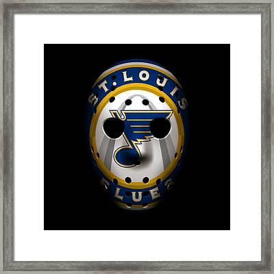 Blues Goalie Mask2 Framed Print by Joe Hamilton