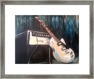 Blues Guitar Framed Print