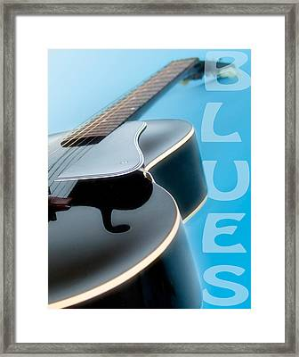 Blues Guitar Framed Print by David and Carol Kelly