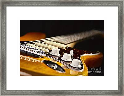 Blues Guitar Framed Print by Eyzen M Kim