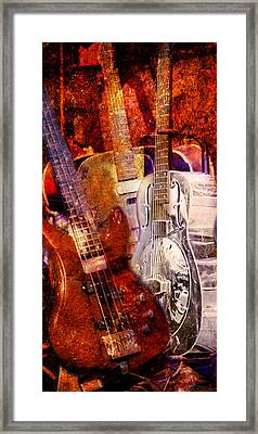 Framed Print featuring the photograph Blues Guitars by Bob Coates