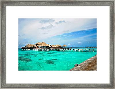 Blues In Maldivian Performance  Framed Print by Jenny Rainbow