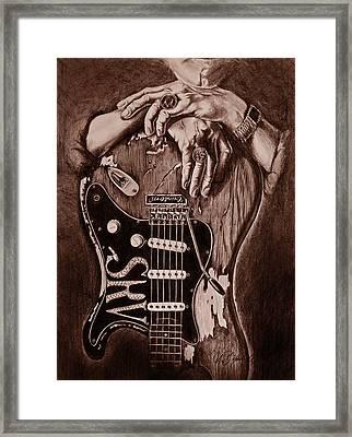 Blues Legend Framed Print by Art Imago